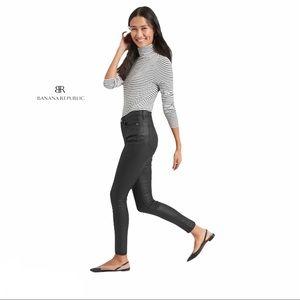 Banana Republic High-Rise Coated Black Skinny Jean